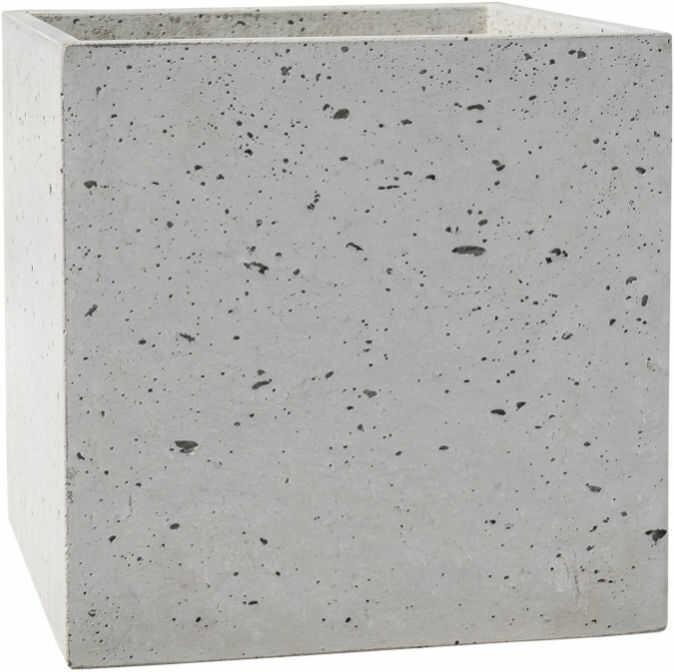 Donica betonowa BOX S 35x35x35 szary naturalny