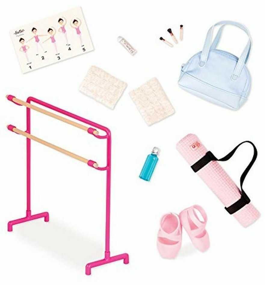 Our Generation Zestaw akcesoriów do baletu dla lalek o długości 46 cm, dla dzieci w wieku 3, 4 lat i więcej
