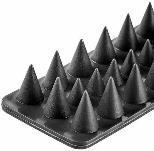 Aldo Plastikowe kolce przeciw ptakom czarny, zestaw 4 szt