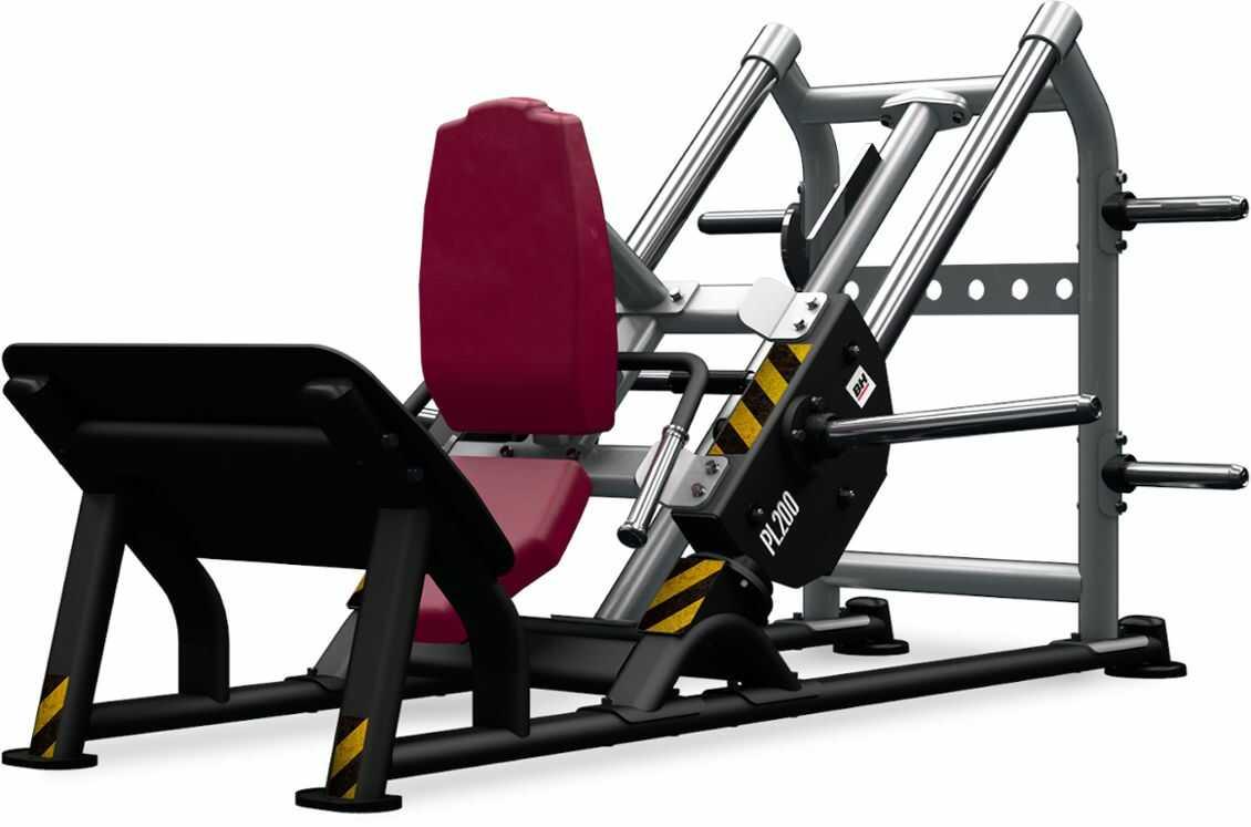 Maszyna półwolna do ćwiczeń mięśni nóg Hack Squat PL200 BH Fitness
