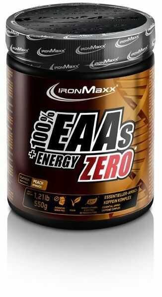Ironmaxx EAA + Energy 550g, Smak: Brzoskwinia