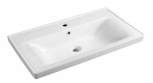 Umywalka 80x46x16,5 cm meblowa/zawieszenie na ścianie , biała