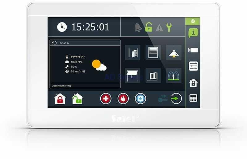 """INT-TSI-W Manipulator graficzny z ekranem dotykowym 7"""" Satel"""