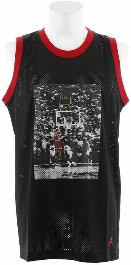 Nike JSW Last Shot Mesh Jersey, koszulka na ramiączkach typu tank top, bez rozmiaru L Nero/Gym Rosso/Gym Rosso