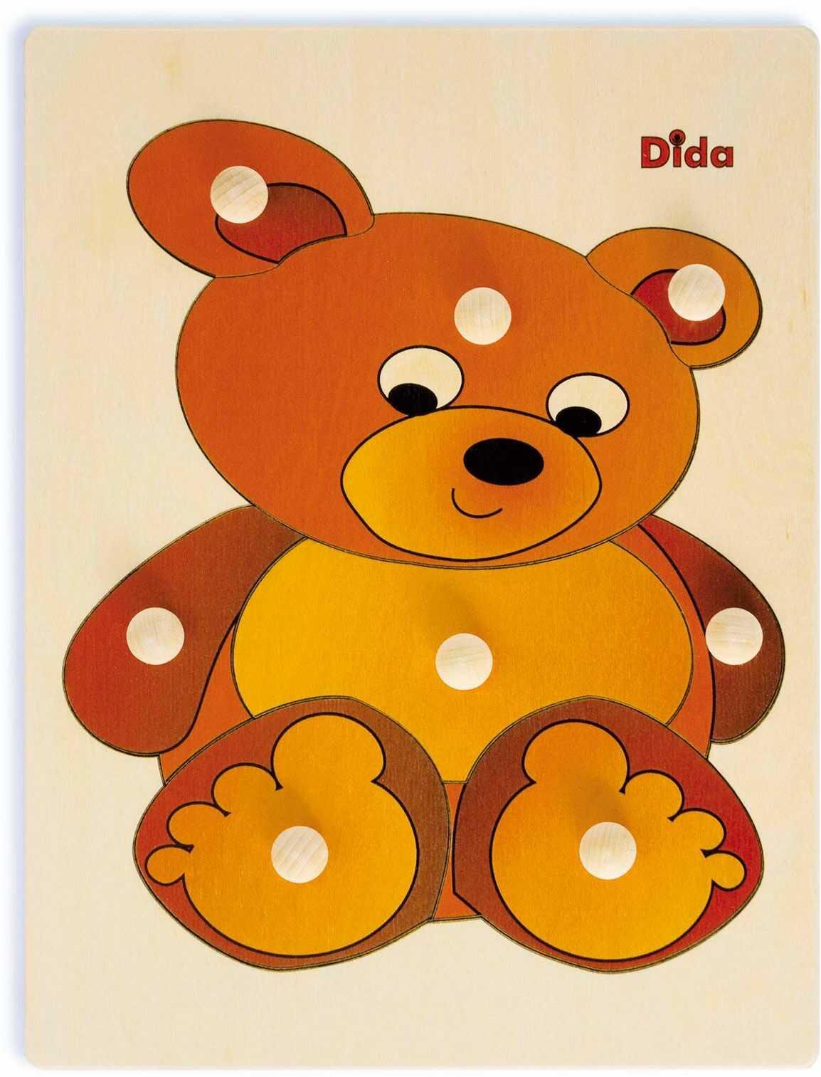Dida P18 drewniane puzzle, niedźwiedź, puzzle per Bambini