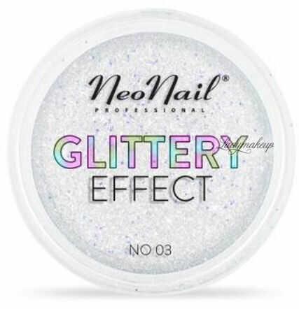 NeoNail - GLITTERY EFFECT - Gruby pyłek do stylizacji paznokci - Efekt brokatu - 03