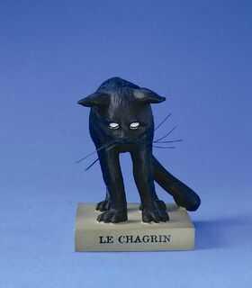 "FIGURKA - Czarny Kot ""LE CHAGRIN"" (Zmartwienie) - duża CD09"