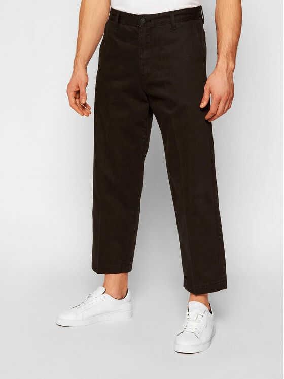 Spodnie materiałowe Chino  Stay Loose 24922-0008 Czarny Loose Fit