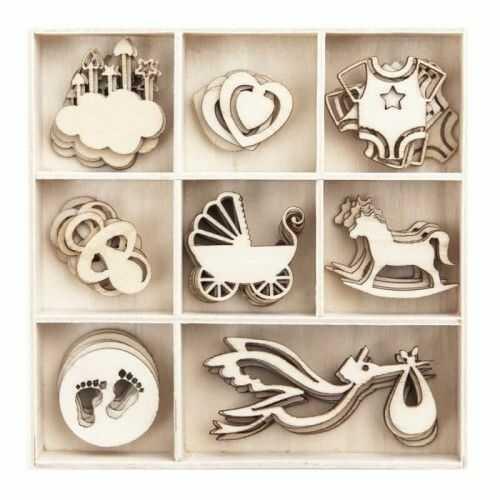 Dekoracje, kształty z drewna bobas, 40 szt.