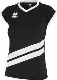 Errea Jens MC Jr koszulka sportowa uniseks dla dzieci XS czarna/biała