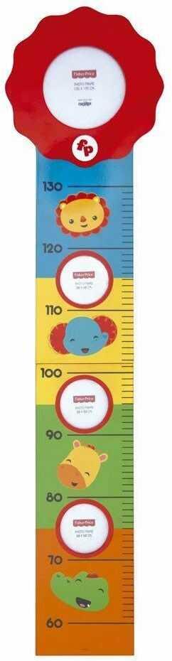 Fisher Price FP10008 bordiura z drewna dla dzieci, niebieska, czerwona i żółta, 104 x 26 x 0,9 cm
