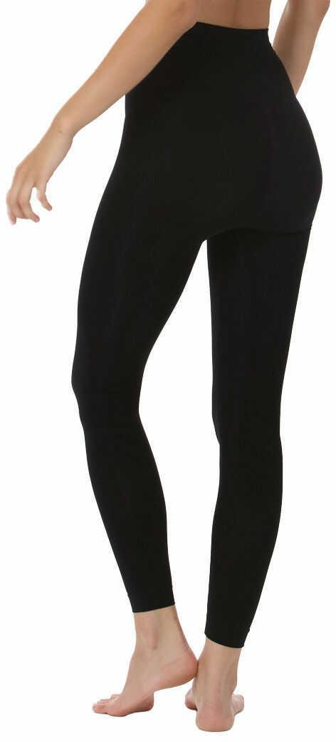 Włoskie elastyczne legginsy z mikrofibry z podwyższonym modelującym pasem i efektem push up