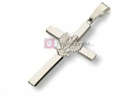 Krzyżyk srebrny z orzełkiem - próba 925, 3,4g