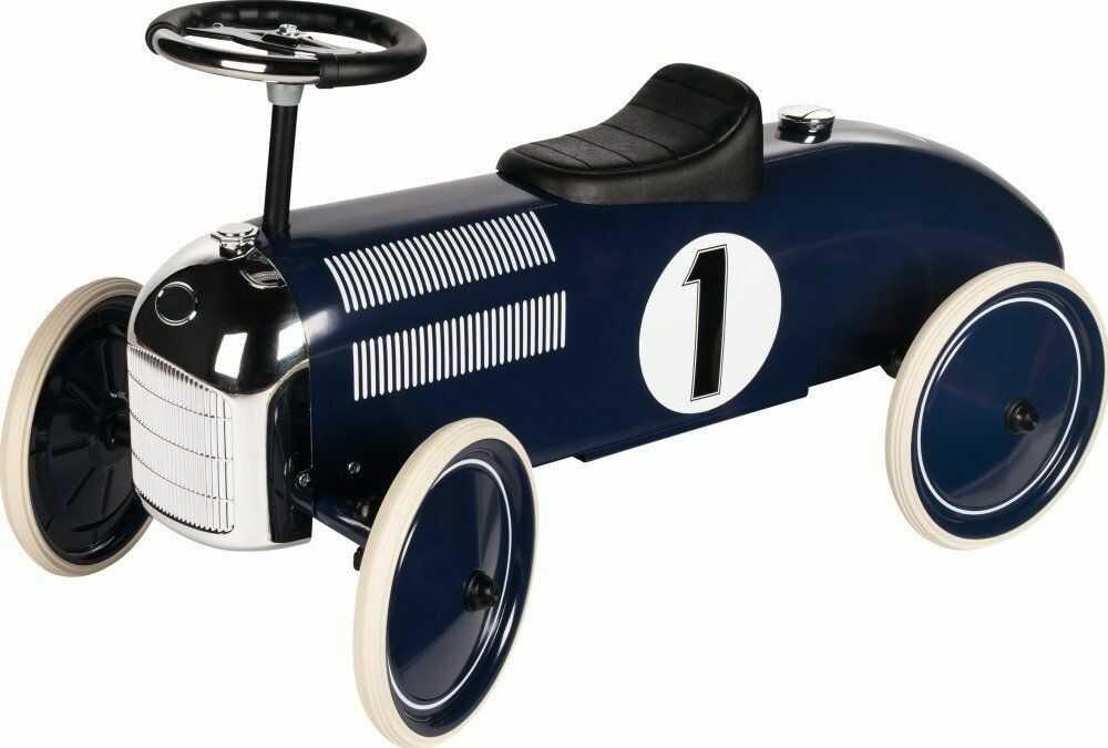 Metalowy jeździk dla dzieci Granatowa Formuła Marine 14176-Goki, pojazdy dla dzieci