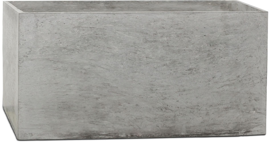 Donica betonowa BOX XL 90x45x45 szary naturalny