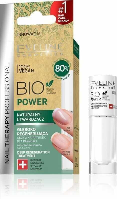 EVELINE KOLOROWKA Eveline Nail Therapy Bio Power Naturalny Utwardzacz do paznokci 8ml