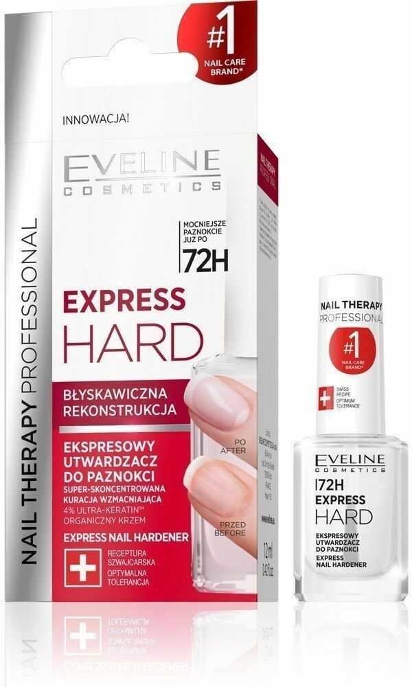 EVELINE KOLOROWKA Eveline Nail Therapy Ekspresowy Utwardzacz do paznokci Express Hard 12ml