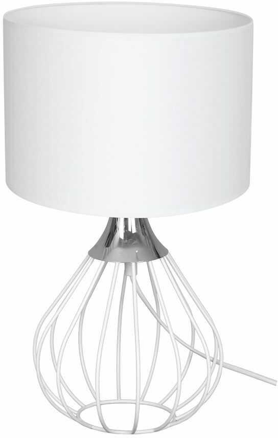 Milagro KANE WHITE MLP4802 lampa stołowa industrialna biało-srebrna ażurowa 1xE27 42cm
