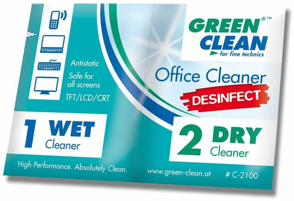Ściereczki Green Clean GCC-2100-100 Office Cleaner Desinfect 100 szt