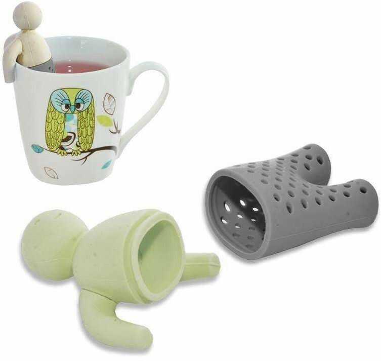 Zaparzacz, sitko do herbaty, ziół, na kubek, ludzik