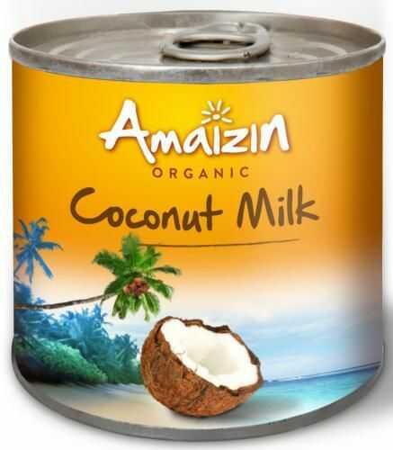 Coconut milk - napój kokosowy w puszce (17% tłuszczu) BIO 200 ml Amaizin