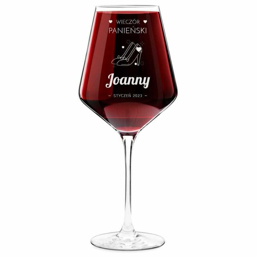 Kieliszek do wina KROSNO avant-garde z grawerem dla niej na wieczór