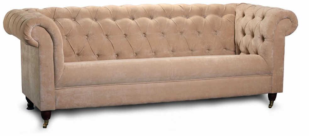Sofa Yale Style 3os., skóra, tkanina