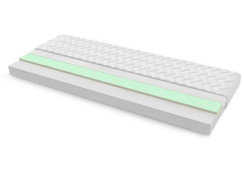 Materac piankowy TUNEZJA MAX PLUS 150x200 cm Miękki / Średnio twardy 2x Visco Memory