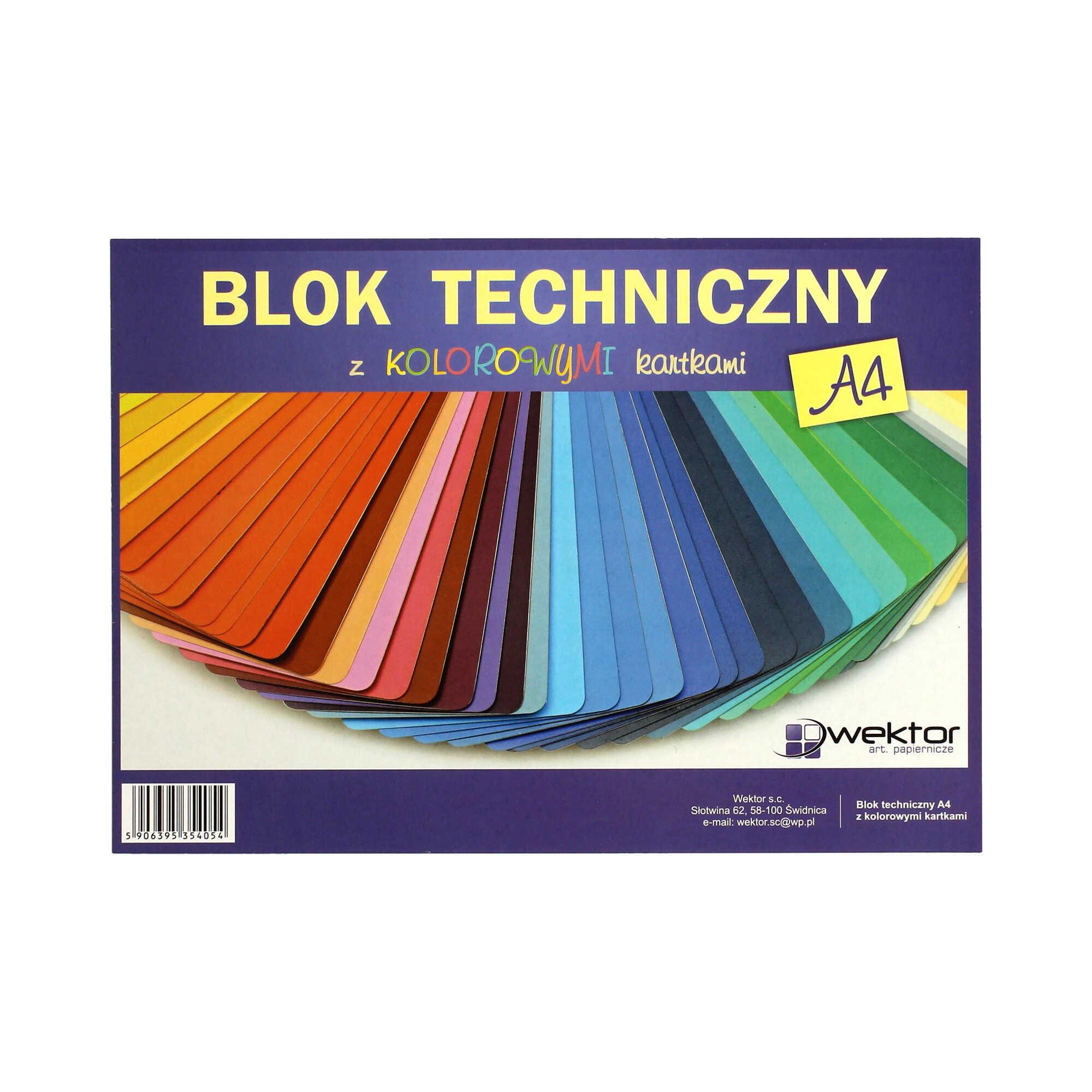 Blok techniczny A4/10 kolor Indeks
