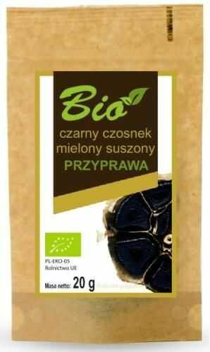 Czarny czosnek mielony suszony BIO 20 g Przetwory z Natury