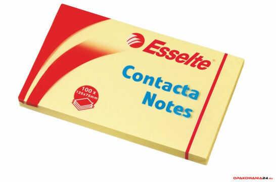 Bloczki samoprzylepne ESSELTE 75x125mm żółte 100k 83001