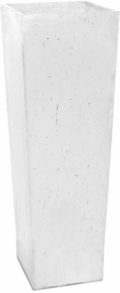 Donica betonowa CONE L 32x32x93 biały