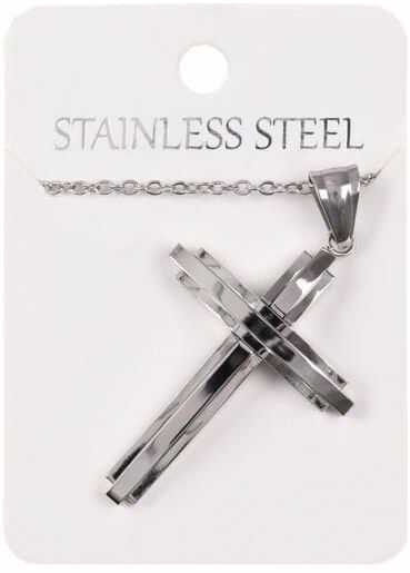 Naszyjnik z nowoczesnym krzyżem