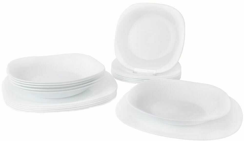 Serwis obiadowy zestaw talerzy komplet 18 el.