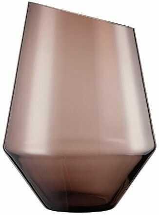 Wazon Na Kwiaty Kryształowy Zwiesel 1872 Diamonds Brązowy 27,7 Cm - /W72h/