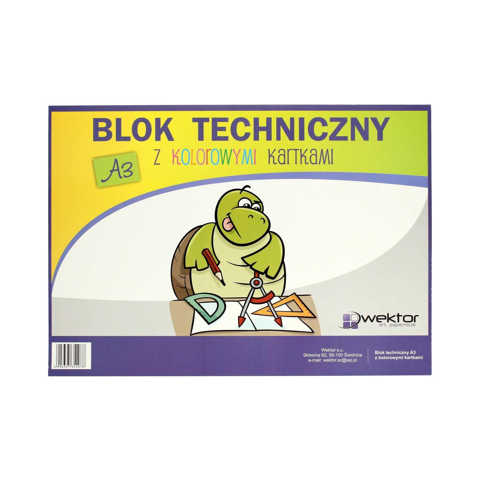 Blok techniczny A3/10 kolor Indeks