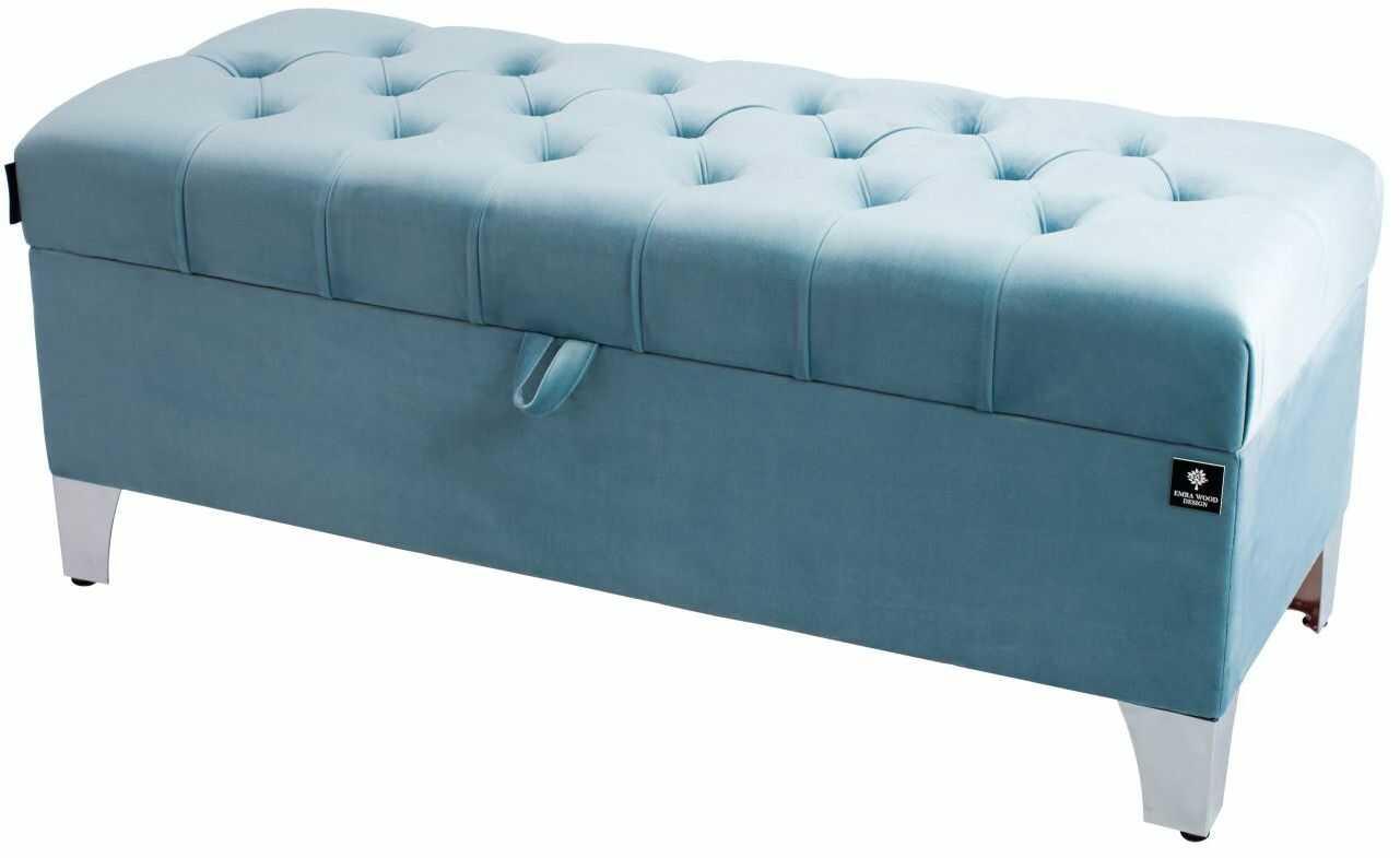 Kufer Pikowany CHESTERFIELD Jasny Błękit / Model Q-5 Rozmiary od 50 cm do 200 cm