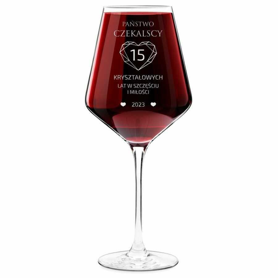 Kieliszek do wina KROSNO avant-garde z grawerem dla pary na 15