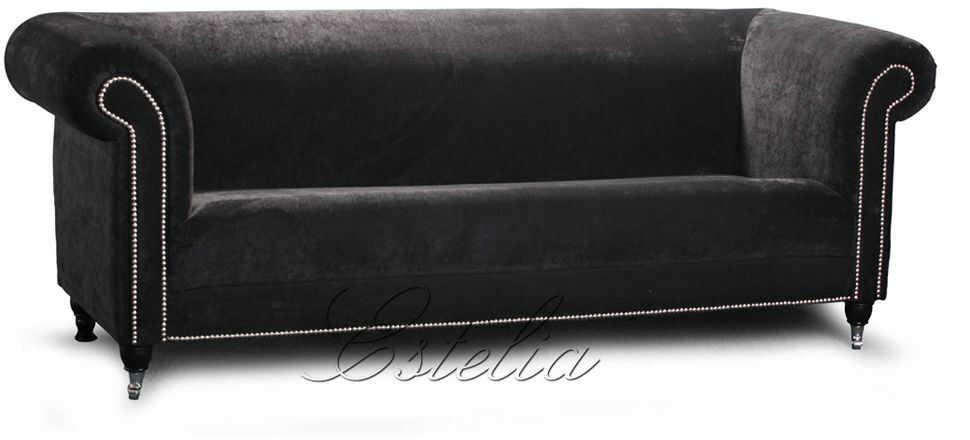 Sofa Estelia Yale 2-os., skóra, tkanina