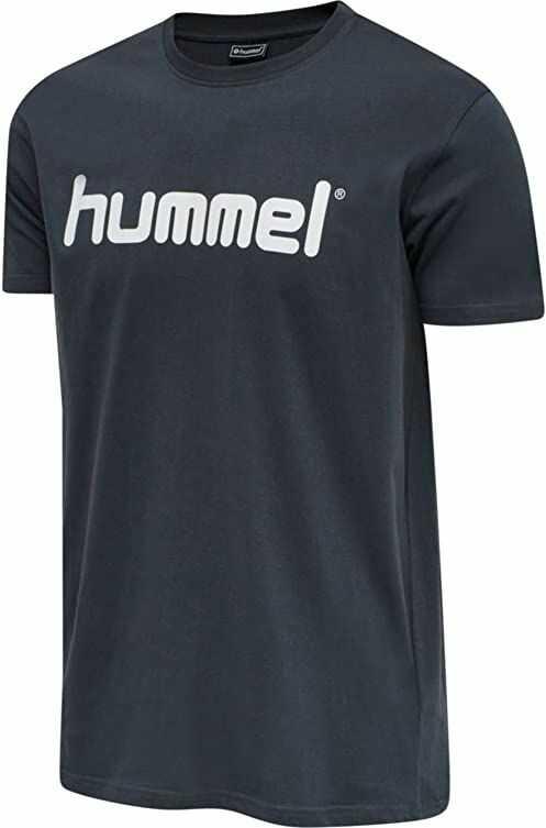 HUMMEL HMLGO COTTON LOGO T-SHIRT S/S niebieski (India Ink) M