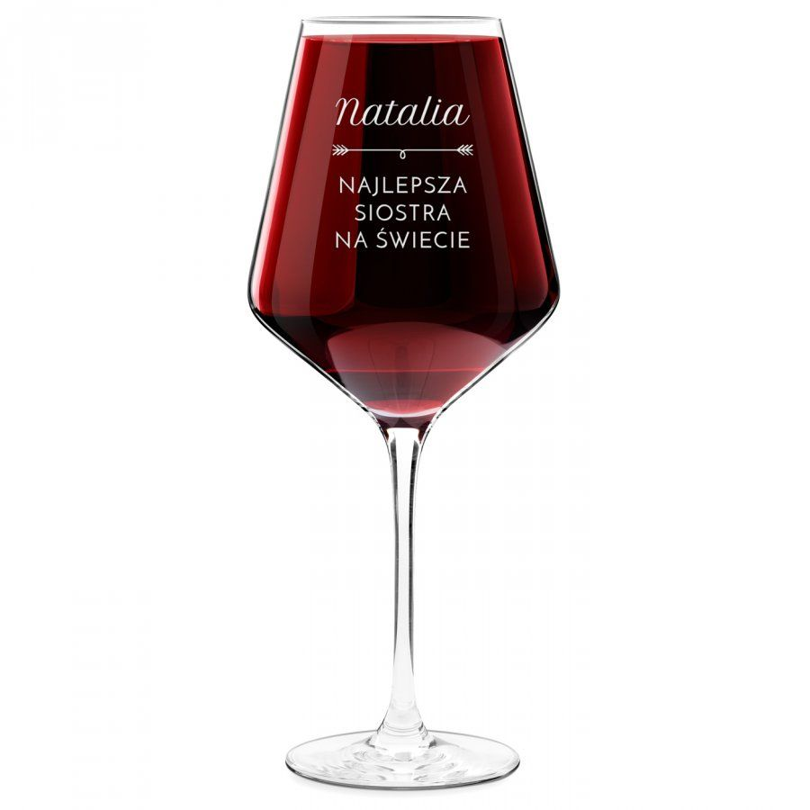 Kieliszek do wina KROSNO avant-garde z grawerem dla siostry