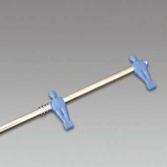 Drążek pojedynczy, teleskopowy, w kolorze niebieskim