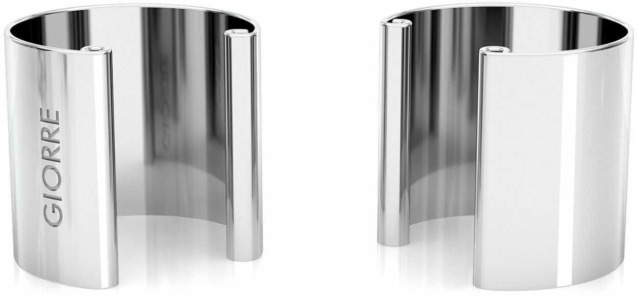 Kolczyk nausznica 1 cm, srebro 925 : Srebro - kolor pokrycia - Pokrycie platyną