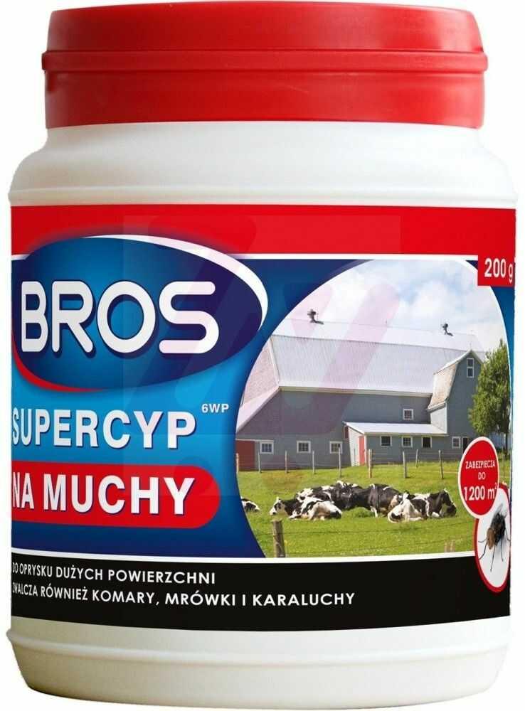 BROS Supercyp 6WP preparat do oprysku na muchy 200 g