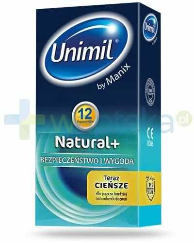 Unimil Natural+ prezerwatywy 12 sztuk