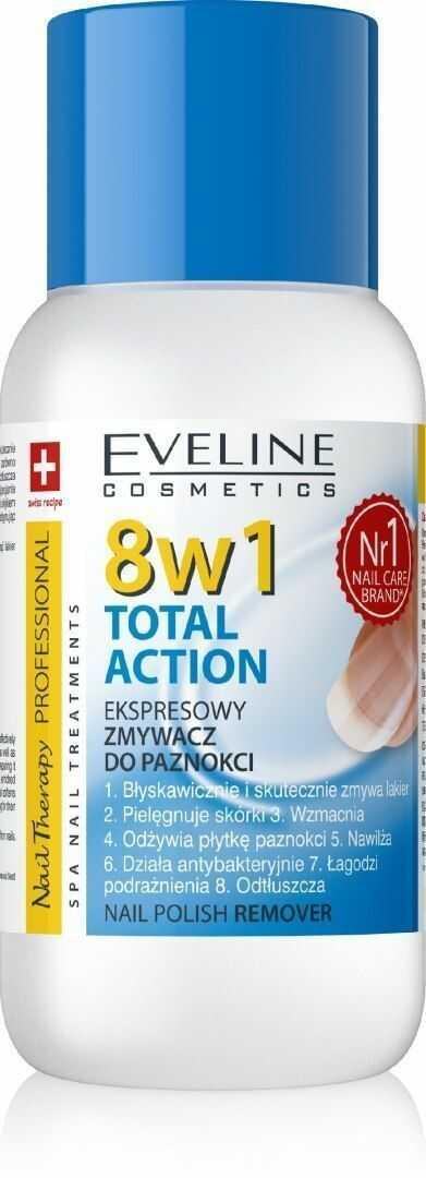 Eveline Eveline Nail Therapy Professional Zmywacz do paznokci 8w1 Total Action bezacetonowy 150 ml
