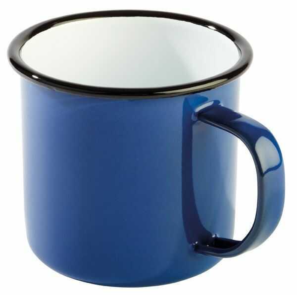 Kubek emaliowany niebiesko-czarny 0,35L