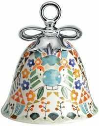 Alessi porcelana dekorowana na Boże Narodzenie, wielokolorowa, 7,2 x 7,2 x 8,5 cm