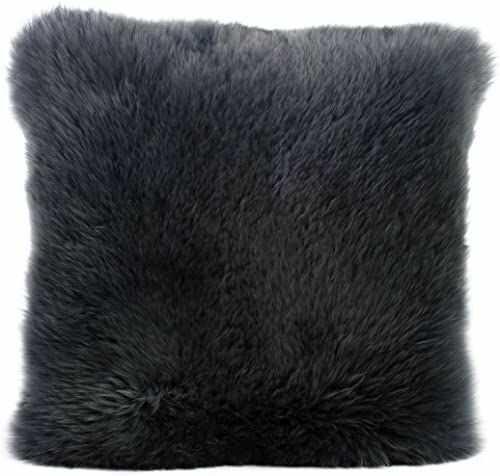 Gözze Poszewka na poduszkę ze skóry owczej, 40 x 40 cm, antracyt, 40149-91-4141