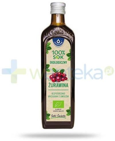 Oleofarm Żurawina 100% sok ekologiczny z owoców żurawiny 490 ml